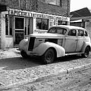 Upholstery Shop Dental Clinic 1930's Auto Us Mexico Border Naco Sonora Mexico 1980 Poster