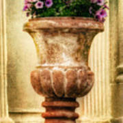 Urn With Purple Flowers Poster