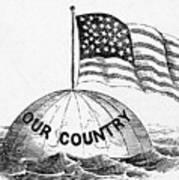 U.s. Flag, 19th Century Poster