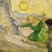 Van Gogh Raising Of Lazarus After Rembrandt Poster