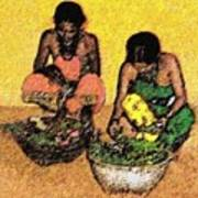 Vegetable Sellers Poster