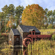 Vermont Grist Mill Poster