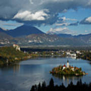 View Of Lake Bled From Ojstrica Poster
