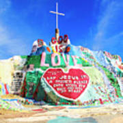 View Of Salvation Mountain Poster