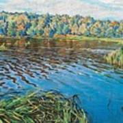 View Of The Lake Nikolai Petrovich Bogdanov-belsky Poster