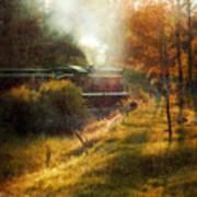 Vintage Diesel Locomotive Poster