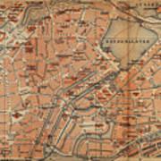 Vintage Map Of Hamburg Germany - 1910 Poster