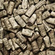 Vintage Wine Corks Poster