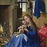 Virgin And Child In An Interior Poster