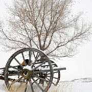 Wagon In The Snow Poster