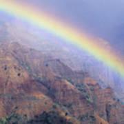 Waimea Canyon Rainbow Poster