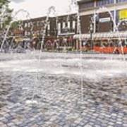 Wakefield City Centre Fountain Poster