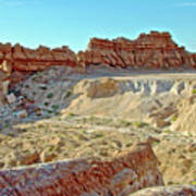 Wall Of Goblins On Carmel Canyon Trail In Goblin Valley State Park, Utah Poster