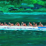 war canoe races 1977 Nooksack tribe Wa  Poster