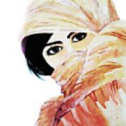 Watercolor Muslim Women Poster