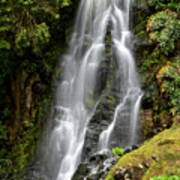 Waterfall At Azores Poster