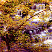 Waterfalls And Fall Colors Poster