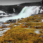 Waterfalls Of Iceland Poster