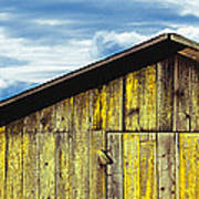 Weathered Wooden Barn, Gaviota, Santa Poster