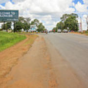 Welcome Sign To Lilongwe In Malawi. Poster