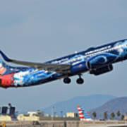 Westjet Boeing 737-8ct C-gwsz Magic Plane Phoenix Sky Harbor January 22 2016 Poster