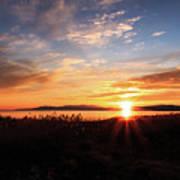 Willard Bay Sunset Poster