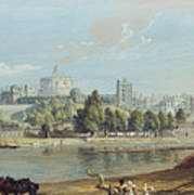 Windsor Castle From The Eton Shore Poster