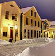 Winter In Historic Downtown New Bedford Poster