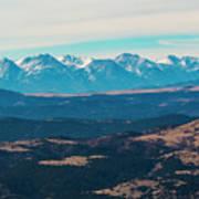 Winter Sangre De Cristo Mountains Poster