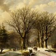 Winter Scene In Reichswald Poster