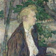 Woman Seated In A Garden Poster
