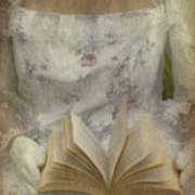 Woman With A Book Poster by Joana Kruse