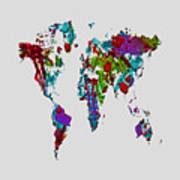 World Map 1b Poster