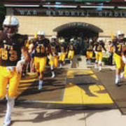 Wyoming Cowboys Entering The Field Poster