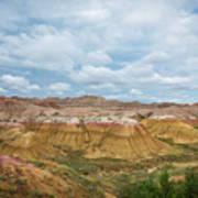 Yellow Mounds Of Badlands Np Poster