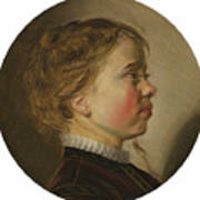 Young Boy In Profile Poster