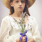 Young Girl With Lavender Poster