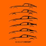 Zee Car Silhouettehistory Poster
