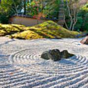 Zen Garden At A Sunny Morning Poster by Ulrich Schade