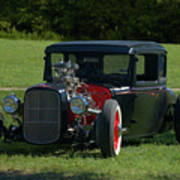 1930 Ford Coupe Hot Rod Poster