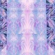 Floral Abstract Design-special Silk Fabric Poster