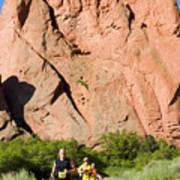 Garden Of The Gods Ten Mile Run In Colorado Springs Poster