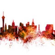 Las Vegas Nevada Skyline Poster