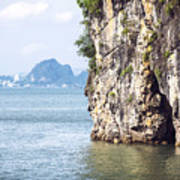 Picturesque Sea Landscape. Ha Long Bay, Vietnam Poster