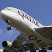 Qatar Airlines Airbus A380 Poster