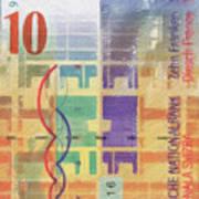 10 Swiss Franc Pop Art Bill Poster