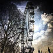The London Eye Art Poster