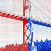 1000 Island International Bridge 2 Poster by Steve Ohlsen