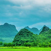 Karst Rural Scenery In Spring Poster