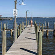 Indian River Lagoon At Eau Gallie In Florida Usa Poster